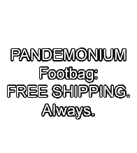 PANDEMONIUM, Free shipping. Always.