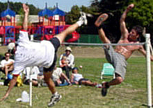 Emmanuel Bouchard at the 2001 world footbag championship