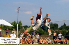 Emmanuel Bouchard at the 2003 world footbag championship