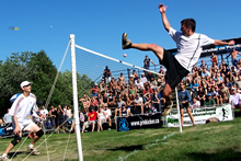 Emmanuel Bouchard at the 12004 world footbag championship